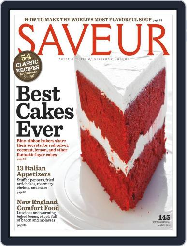 Saveur February 11th, 2012 Digital Back Issue Cover