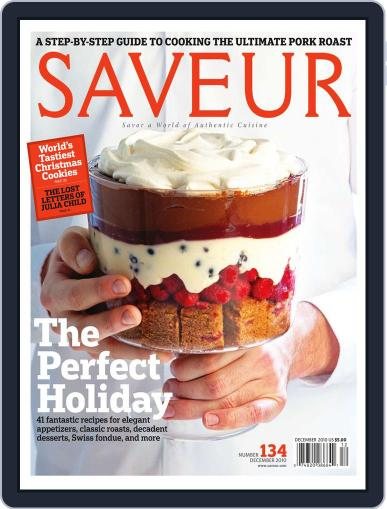 Saveur November 13th, 2010 Digital Back Issue Cover
