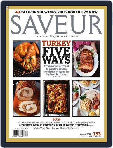 Saveur (Digital) October 23rd, 2010 Issue Cover