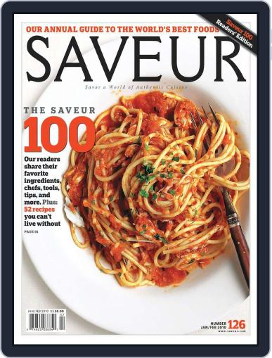 Saveur December 26th, 2009 Digital Back Issue Cover