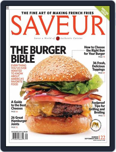 Saveur July 25th, 2009 Digital Back Issue Cover