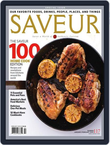 Saveur (Digital) January 2nd, 2009 Issue Cover