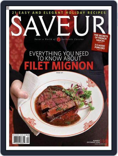Saveur (Digital) November 15th, 2008 Issue Cover