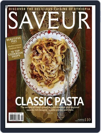 Saveur March 27th, 2008 Digital Back Issue Cover