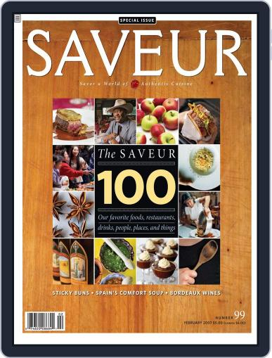 Saveur January 3rd, 2007 Digital Back Issue Cover