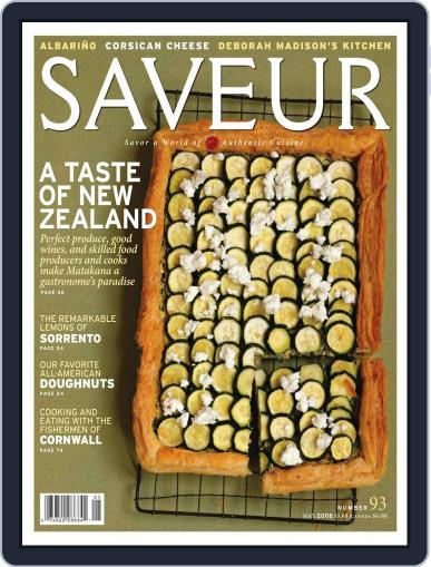 Saveur April 22nd, 2006 Digital Back Issue Cover