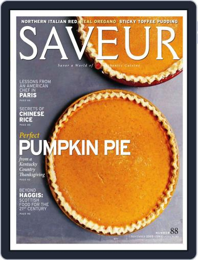 Saveur (Digital) October 18th, 2005 Issue Cover