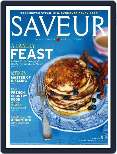 Saveur (Digital) September 10th, 2005 Issue Cover