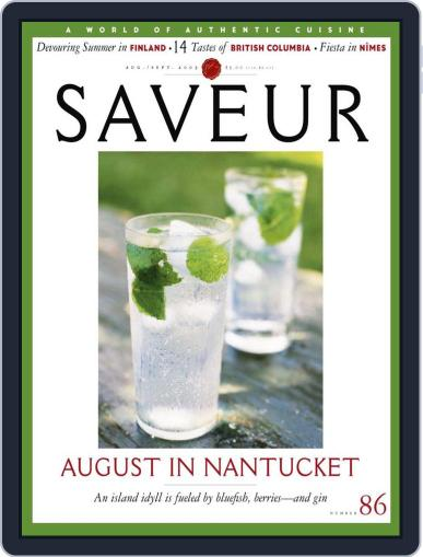 Saveur August 17th, 2005 Digital Back Issue Cover