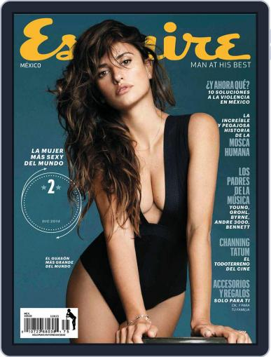 Esquire México December 11th, 2014 Digital Back Issue Cover