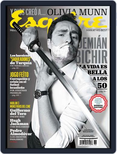 Esquire México July 10th, 2013 Digital Back Issue Cover