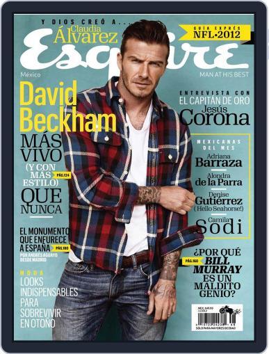Esquire  México (Digital) September 12th, 2012 Issue Cover