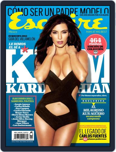 Esquire México June 10th, 2012 Digital Back Issue Cover