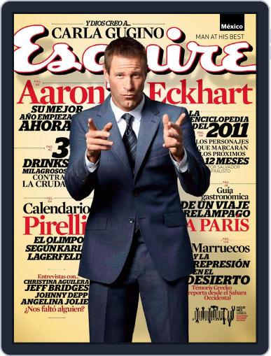 Esquire México January 24th, 2011 Digital Back Issue Cover