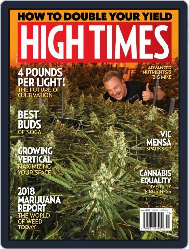 High Times March 1st, 2018 Digital Back Issue Cover