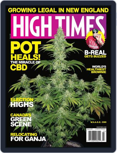 High Times March 1st, 2017 Digital Back Issue Cover