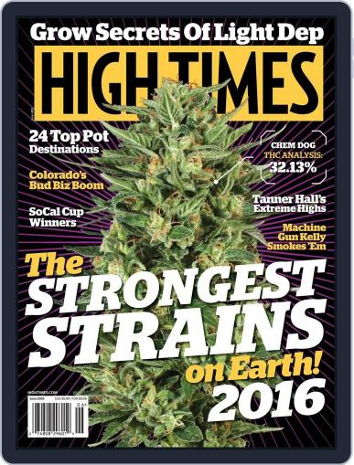 High Times June 1st, 2016 Digital Back Issue Cover