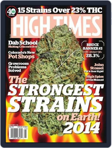 High Times April 30th, 2014 Digital Back Issue Cover