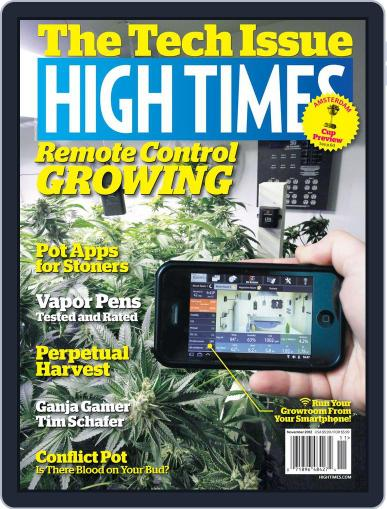 High Times (Digital) September 11th, 2012 Issue Cover