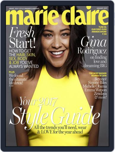 Marie Claire Magazine (Digital) January 1st, 2017 Issue Cover