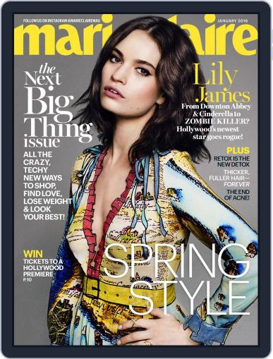 Marie Claire December 9th, 2015 Digital Back Issue Cover