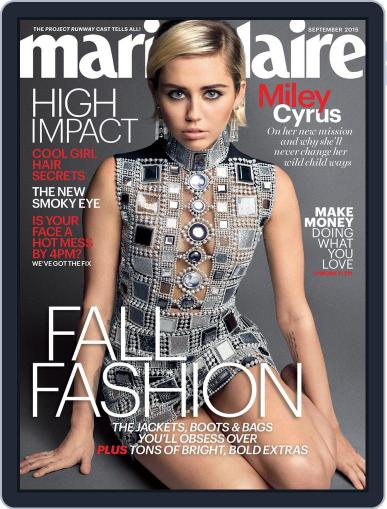Marie Claire Magazine (Digital) September 1st, 2015 Issue Cover