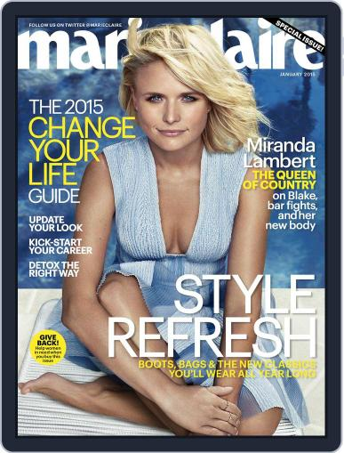 Marie Claire Magazine (Digital) December 12th, 2014 Issue Cover