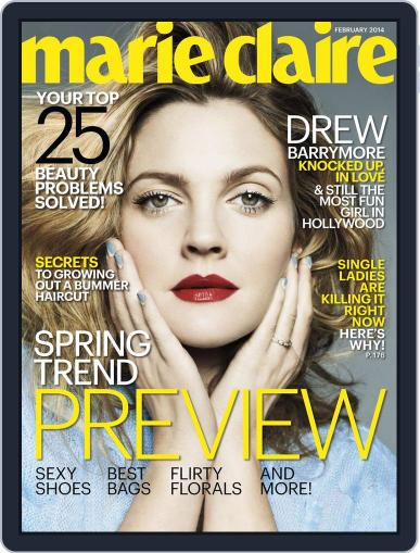 Marie Claire Magazine (Digital) January 13th, 2014 Issue Cover
