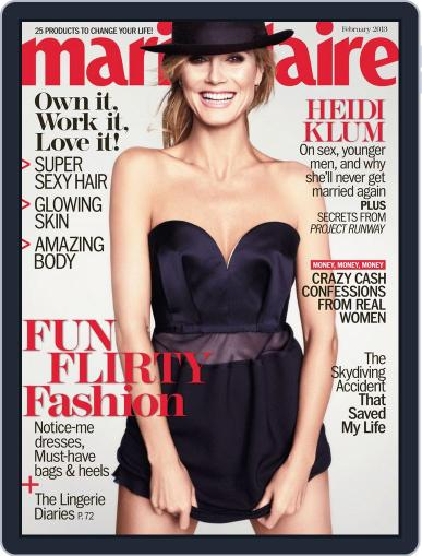 Marie Claire Magazine (Digital) January 10th, 2013 Issue Cover