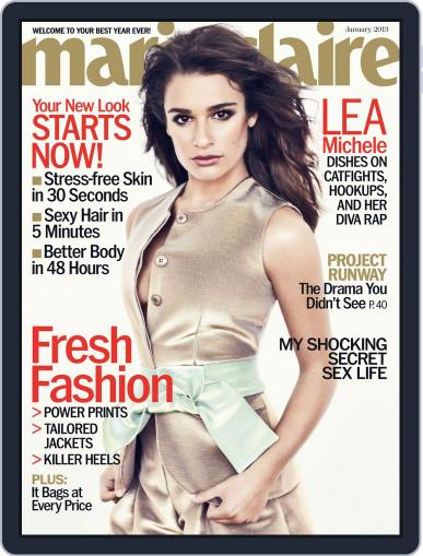 Marie Claire Magazine (Digital) December 13th, 2012 Issue Cover
