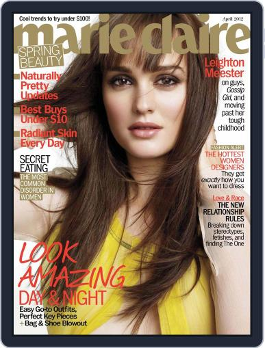 Marie Claire March 22nd, 2012 Digital Back Issue Cover