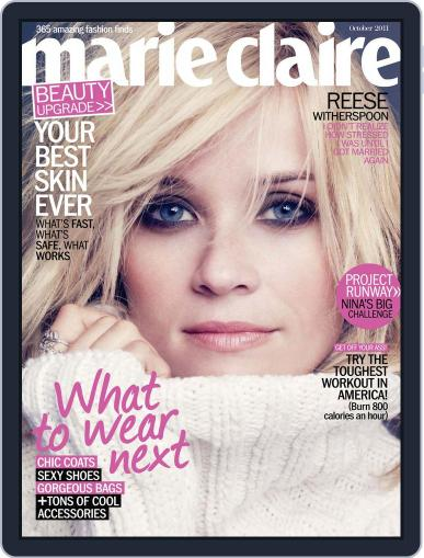 Marie Claire Magazine (Digital) September 28th, 2011 Issue Cover