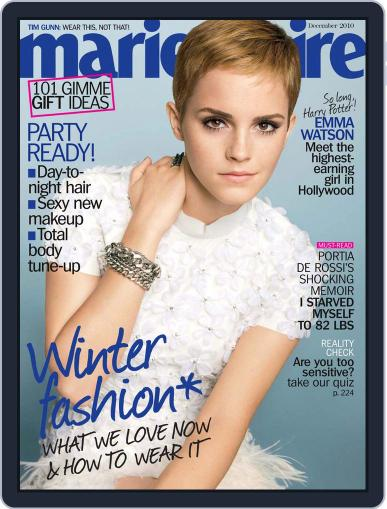 Marie Claire Magazine (Digital) December 1st, 2010 Issue Cover