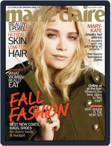 Marie Claire August 10th, 2010 Digital Back Issue Cover
