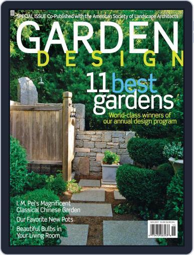 Garden Design (Digital) September 28th, 2007 Issue Cover