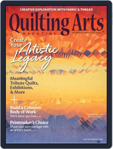 Quilting Arts (Digital) December 1st, 2018 Issue Cover