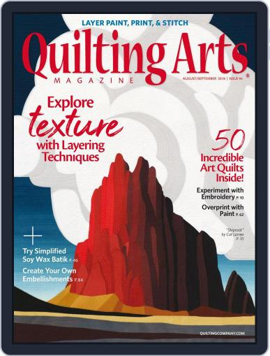 Quilting Arts (Digital) August 1st, 2018 Issue Cover