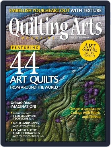 Quilting Arts (Digital) April 1st, 2017 Issue Cover