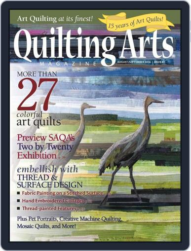 Quilting Arts (Digital) July 19th, 2016 Issue Cover