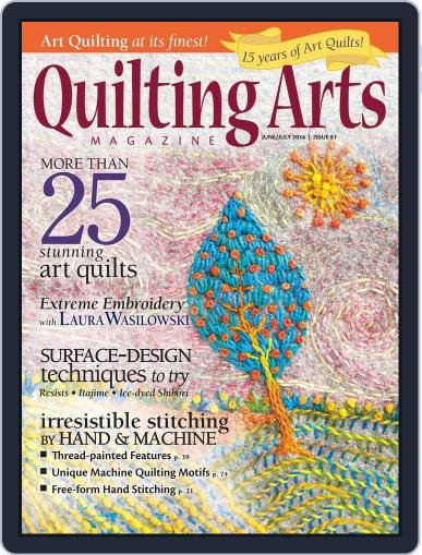 Quilting Arts (Digital) May 24th, 2016 Issue Cover