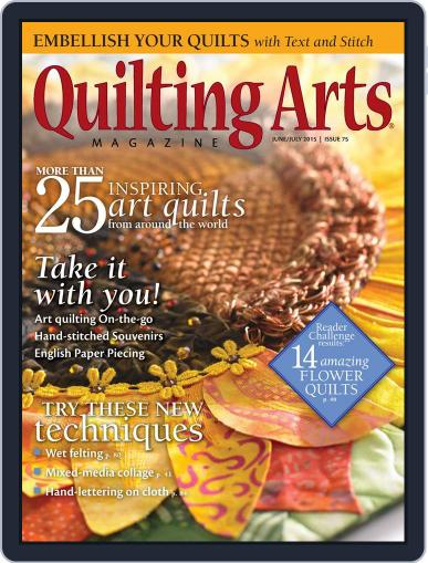 Quilting Arts June 1st, 2015 Digital Back Issue Cover