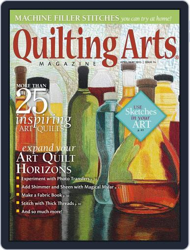 Quilting Arts (Digital) April 1st, 2015 Issue Cover