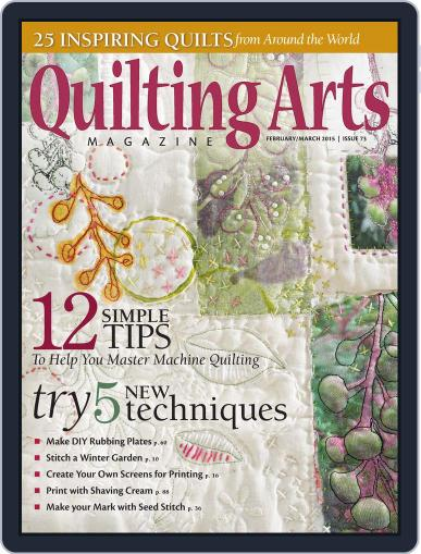 Quilting Arts January 14th, 2015 Digital Back Issue Cover