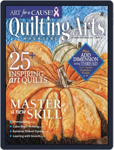 Quilting Arts (Digital) September 10th, 2014 Issue Cover