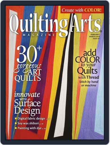 Quilting Arts January 15th, 2014 Digital Back Issue Cover