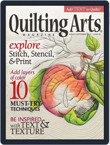 Quilting Arts July 10th, 2013 Digital Back Issue Cover