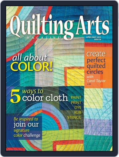 Quilting Arts (Digital) March 14th, 2012 Issue Cover