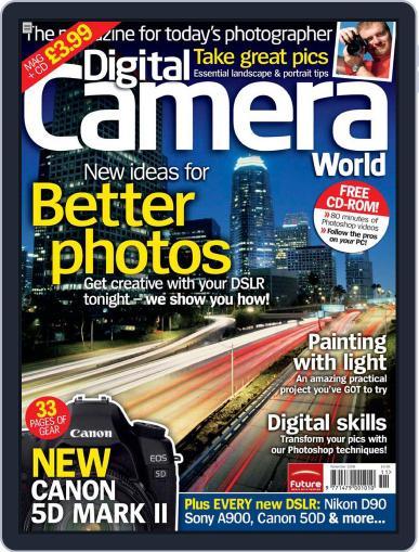 Digital Camera World October 21st, 2008 Digital Back Issue Cover