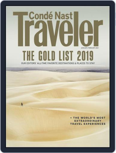 Conde Nast Traveler (Digital) January 1st, 2019 Issue Cover