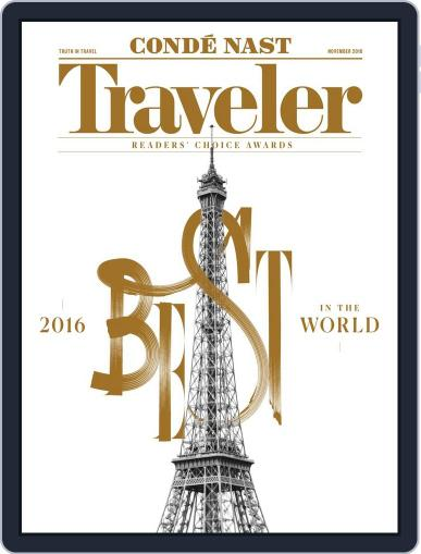 Conde Nast Traveler (Digital) November 1st, 2016 Issue Cover